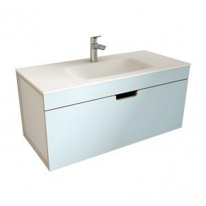 muebles de bano ML100 azul-blanco