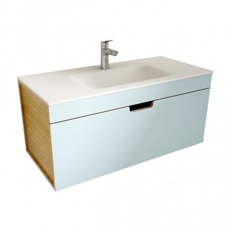 muebles de bano ML100 azul-madera