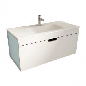 muebles de bano ML100 blanco-azul