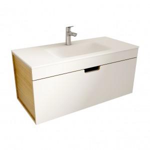 muebles de bano ML100 blanco-madera
