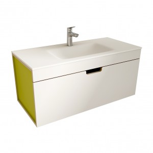 muebles de bano ML100 blanco-verde