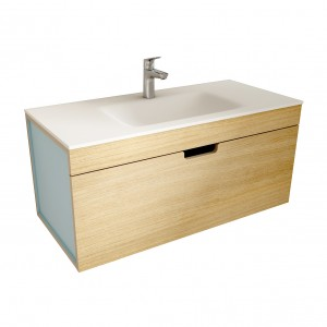 muebles de bano ML100 madera-azul