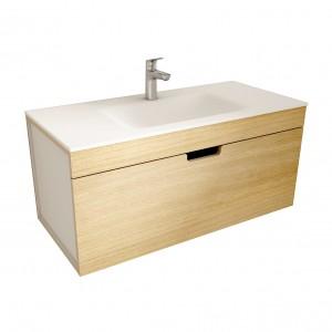 muebles de bano ML100 madera-blanco