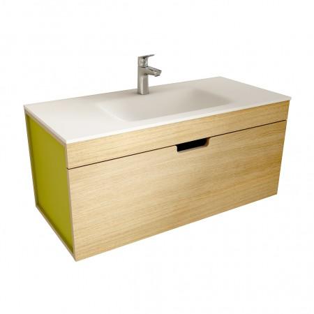 muebles de bano ML100 madera-verde