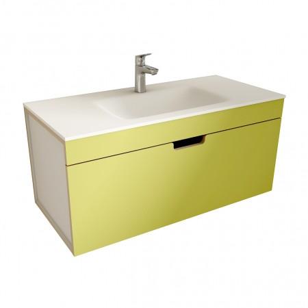 muebles de bano ML100 verde-blanco