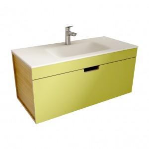 muebles de bano ML100 verde-madera