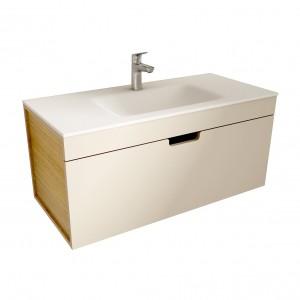 muebles de bano ML100 visón-madera
