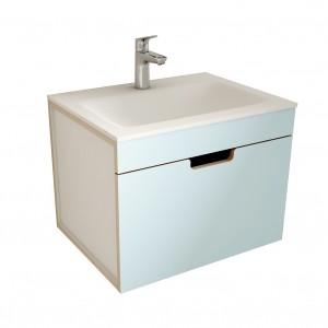 muebles de bano ML60 azul-blanco