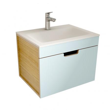 muebles de bano ML60 azul-madera