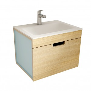 muebles de bano ML60 madera-azul