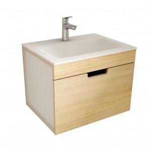 muebles de bano ML60 madera-blanco