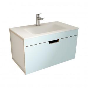 muebles de bano ML80 azul-blanco