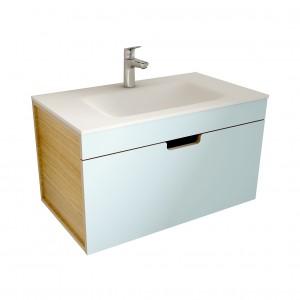 muebles de bano ML80 azul-madera