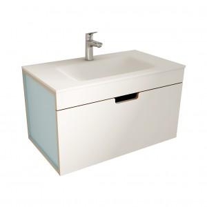 muebles de bano ML80 blanco-azul