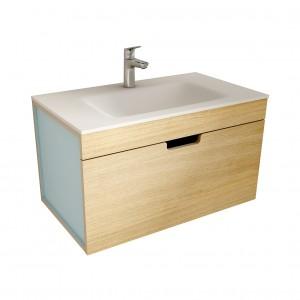 muebles de bano ML80 madera-azul