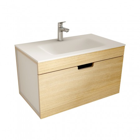 muebles de bano ML80 madera-blanco
