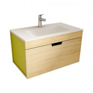 muebles de bano ML80 madera-verde