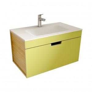 muebles de bano ML80 verde-madera